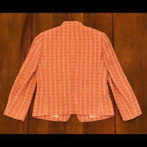 J. Crew Jackets & Coats - J. CREW Textured Pink Coral Beige Blazer Jacket